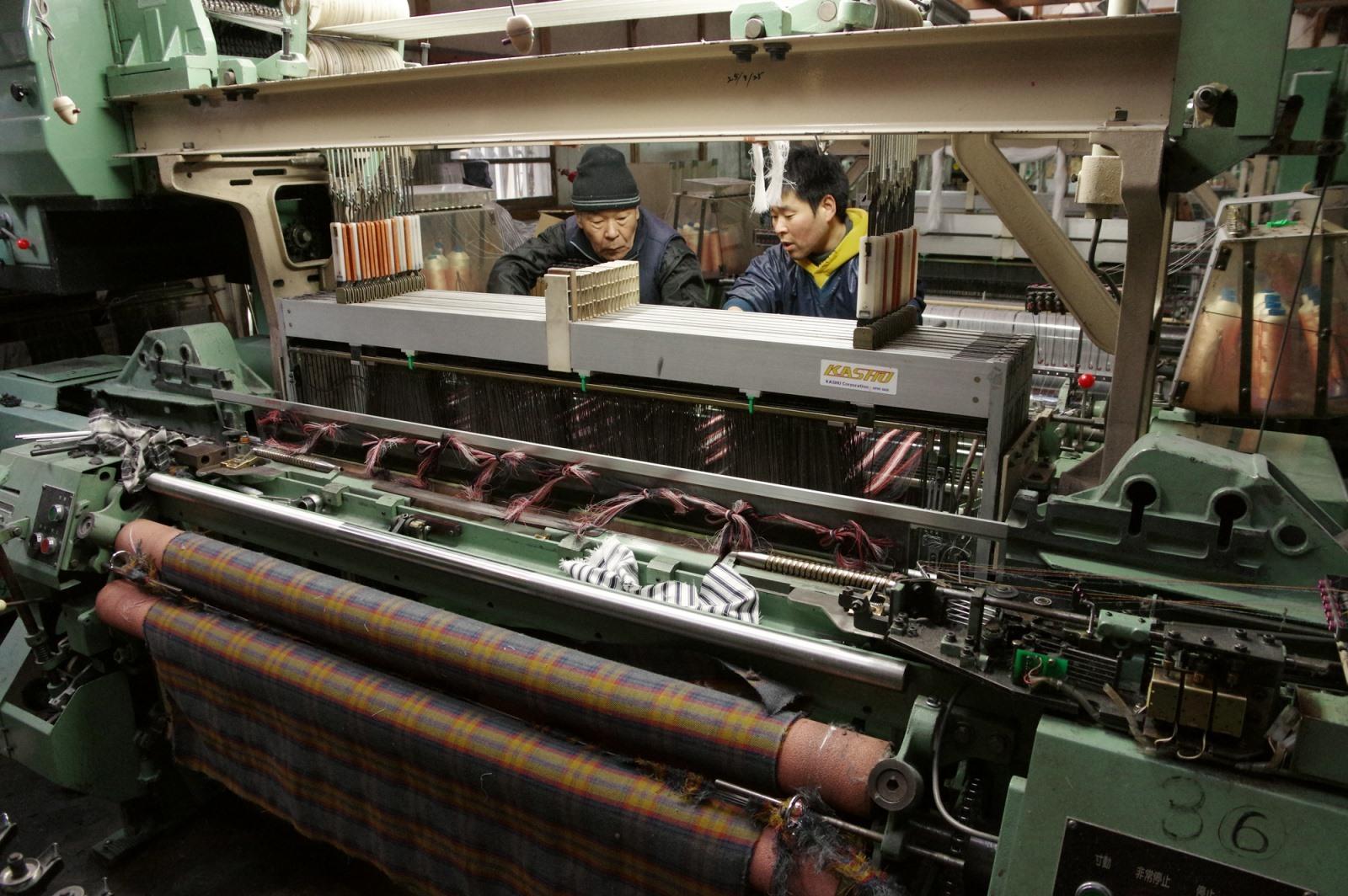 播州織の製造